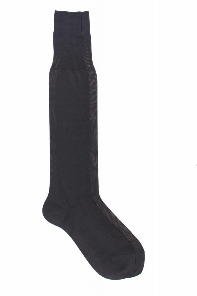 Men 100% Mercerized Cotton Plain Knee High Socks - Fil D`Écosse