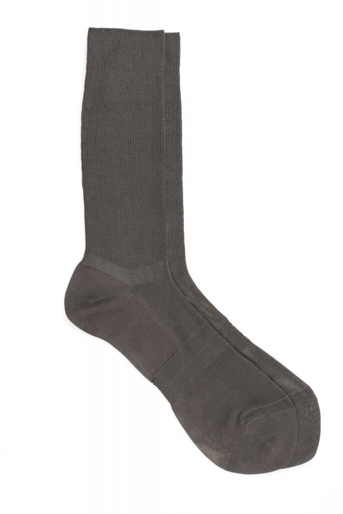 Men Plain Stand Up Cotton Socks
