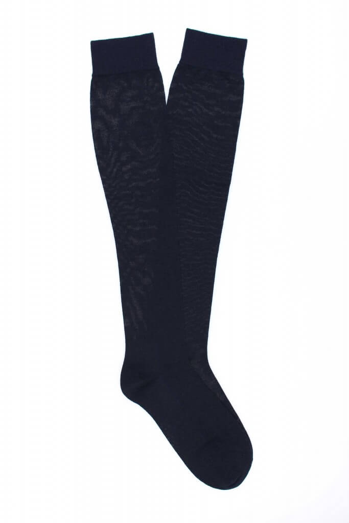 Women Plain Knee High 100% Fine Merino Wool Socks