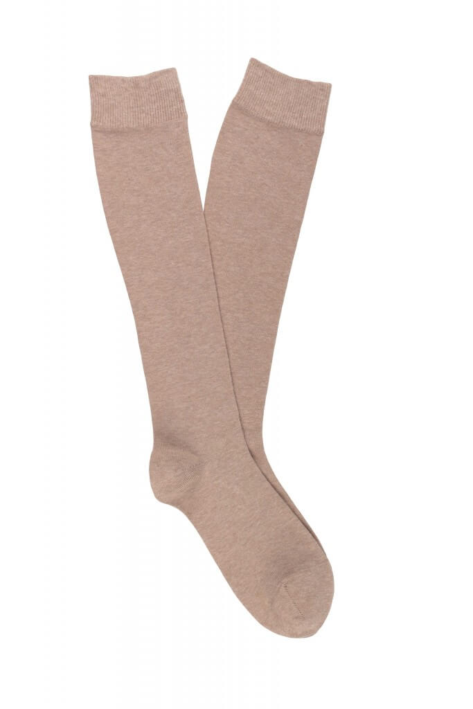 Women Cotton Plain Knee High Socks