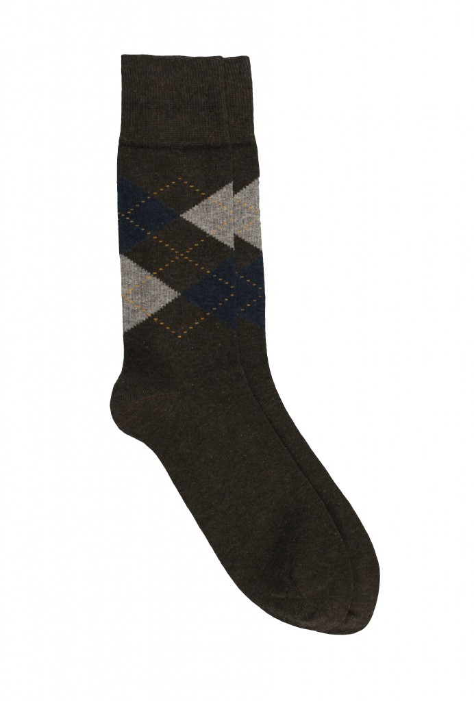 Men Diamond Cotton Sock