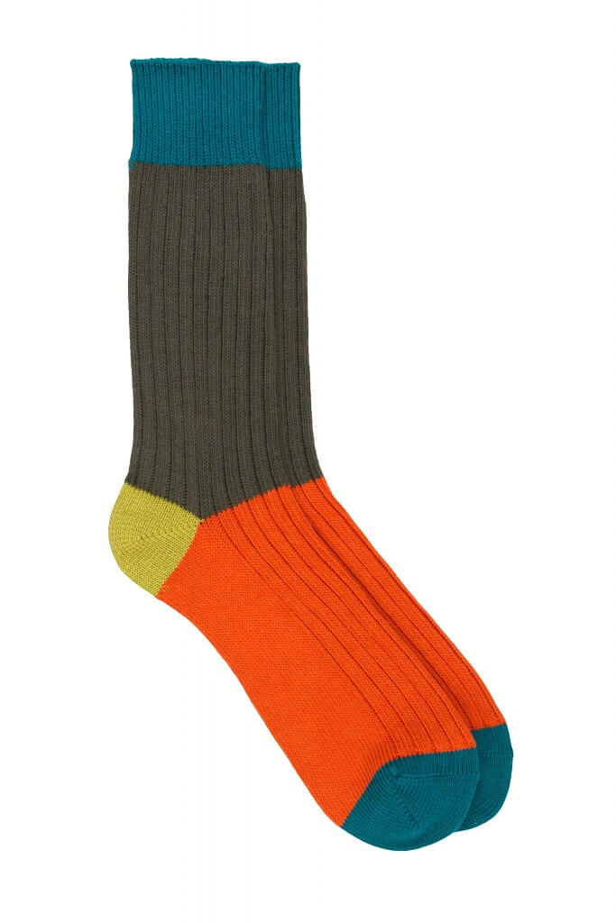 Men Rib Cotton Socks
