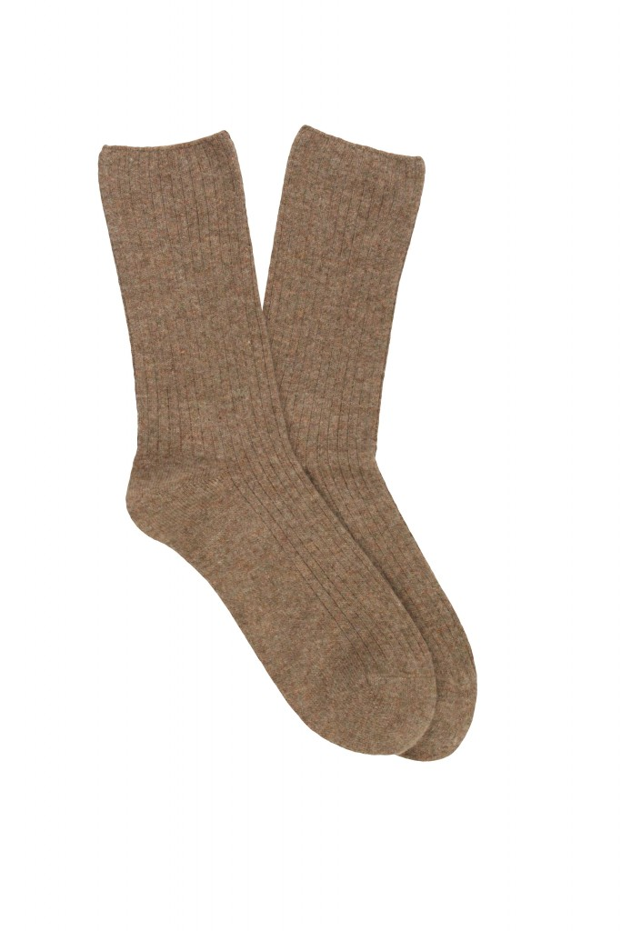 Women Rib No Pressure Cuff Cashmere Blend Sock