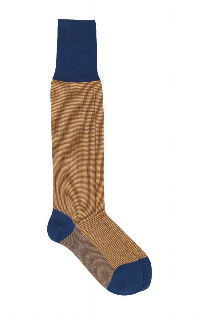 Men Pattern Knee High 100% Mercerized Cotton Socks Fil D`Écosse